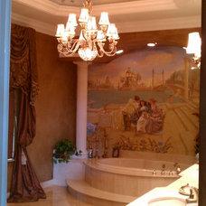 Mediterranean Bathroom by VENETIAN INTERIOR ART INC.