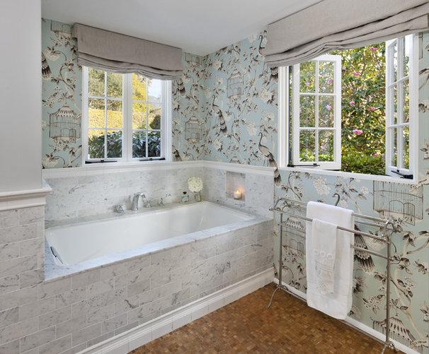 Traditional Bathroom by Elizabeth Vallino Interiors