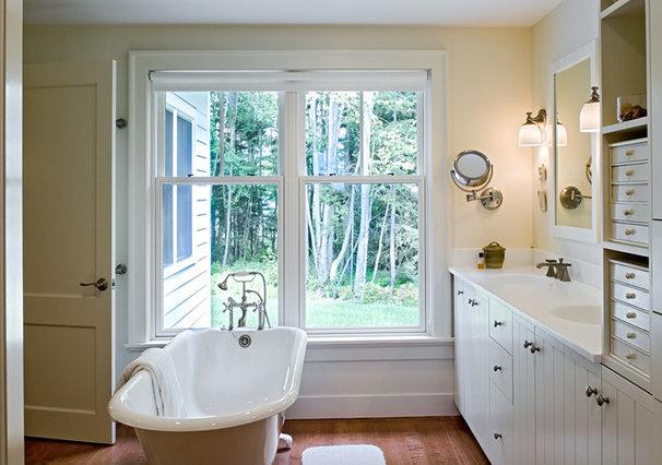 Farmhouse Bathroom by Whitten Architects