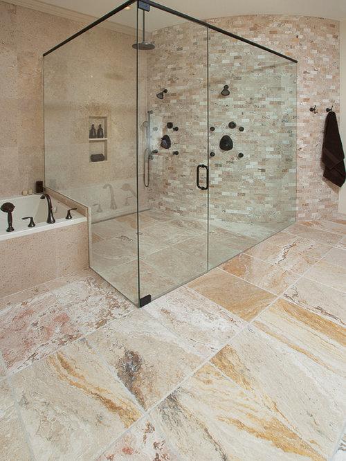 Zero Entry Shower Walk In Shower Design Ideas Remodels