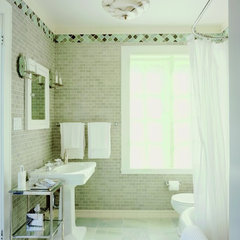 eclectic bathroom by Leslie Harris / Interior Design