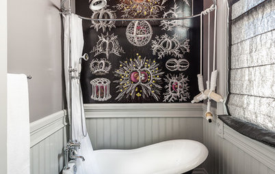 Want to Make a Statement in a Small Bathroom? Yes You Can!