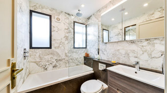 Bathroom with Arabescato Polished Marble