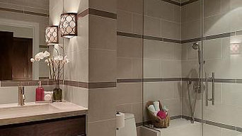 Bathroom with Crossville Empire tile 'Alabaster'