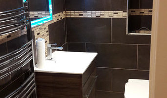 Bathroom with light up mirror