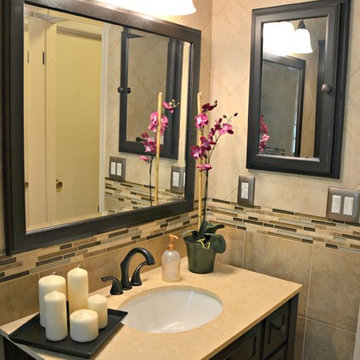 Bathroom with Oil Rubbed Bronze Accents