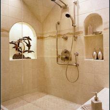 Eclectic Bathroom by Diane Plesset, CMKBD, NCIDQ, C.A.P.S.