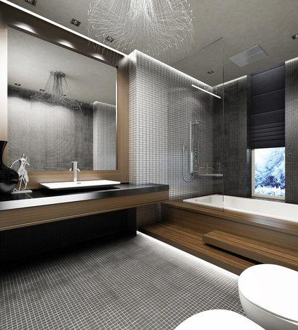 Modern Bathroom by Yasser Moustafa