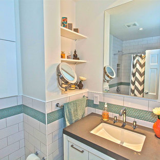 Example of a transitional bathroom design in Seattle
