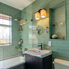 Transitional Bathroom by Alpine Timber Custom Builders and Remodeling