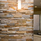 Multicolor Slate Stack Stone - Modern - Kitchen ...