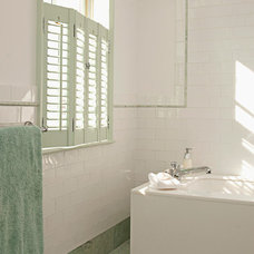 Transitional Bathroom by Art of Tile and Stone