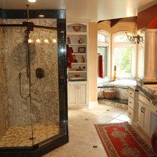 Mediterranean Bathroom by Barber Builders
