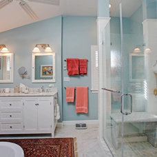 Beach Style Bathroom by Case Design/Remodeling Halifax
