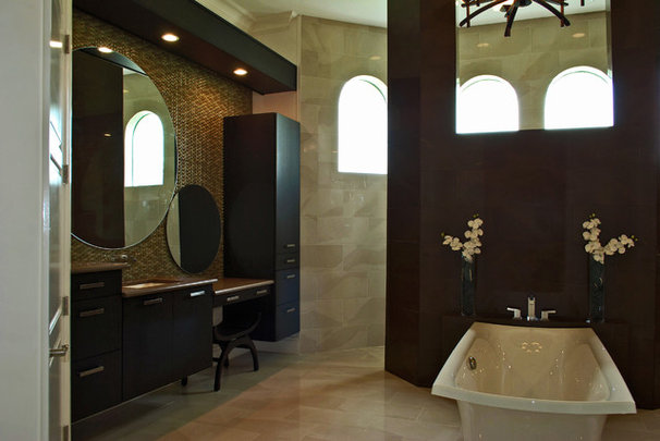 Asian Bathroom by Olde World Cabinetry