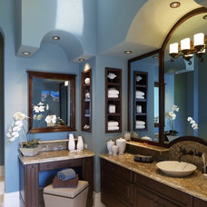 Tropical Bathroom by Olde World Cabinetry
