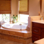Classic White Marble Tile Traditional Bathroom Dc