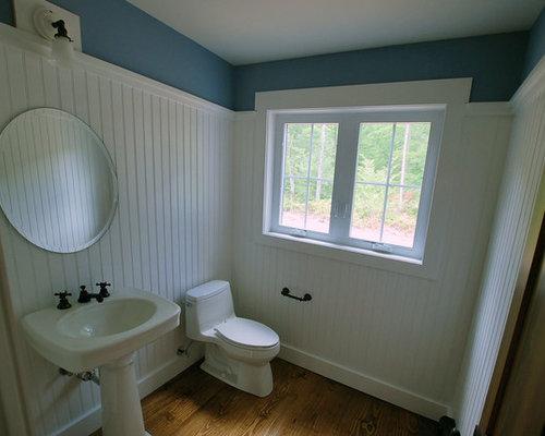 Farmhouse Pedestal Sink : 38 Small Farmhouse Bathroom Design Photos with a Pedestal Sink