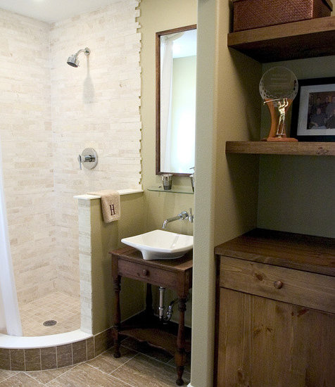 Small Open Shower | Houzz