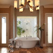 Transitional Bathroom by Christopher Burton Homes, Inc.
