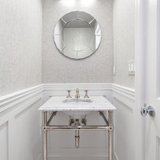 Transitional Powder Room by Clean Design