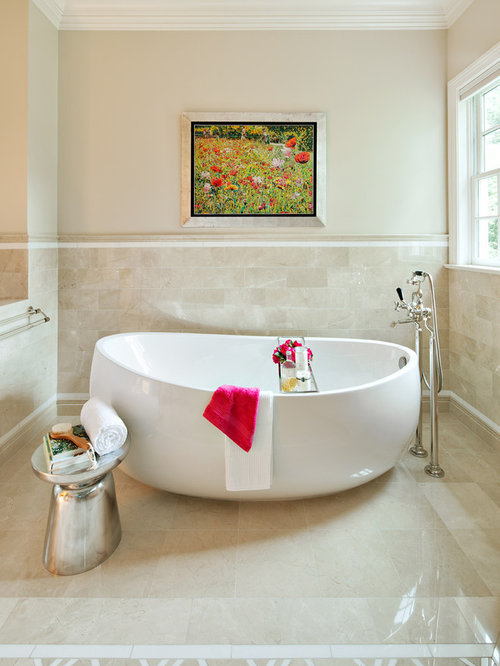 Benjamin moore natural cream home design ideas pictures - Best paint color for crema marfil bathroom ...