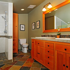 Craftsman Bathroom by Color in Space Inc.