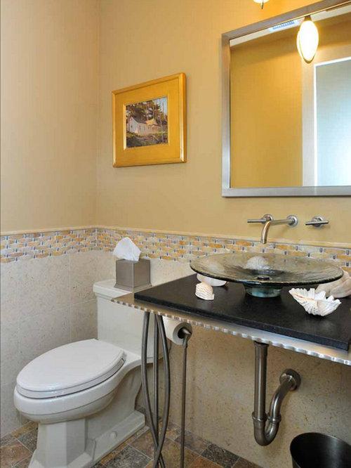 Industrial bathroom design ideas renovations photos - Bathrooms with yellow walls ...