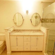 Traditional Bathroom by Cutting Edge Renovations LLC