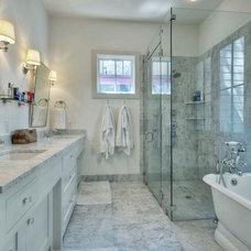 Farmhouse Bathroom by Dakan Construction LLC