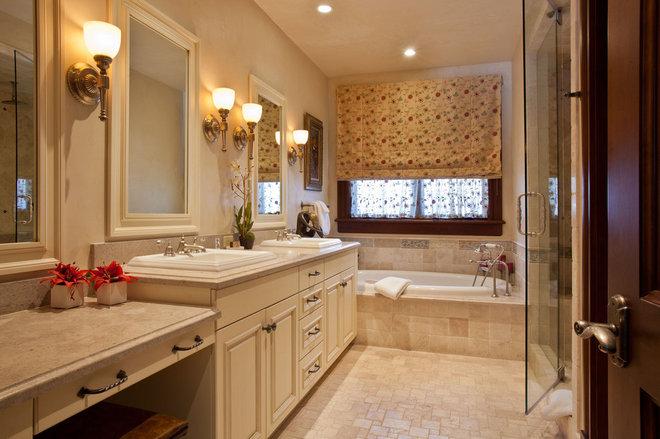 Traditional Bathroom by Dann Coffey Photography