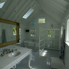 Farmhouse Bathroom by Ed Ensign Contracting