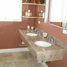 Traditional Bathroom by Frank-Lin Interiors, Inc