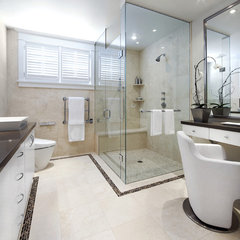 contemporary bathroom by GCW Custom Kitchens & Cabinetry Inc.