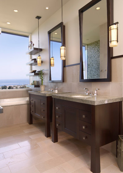 Beach Style Bathroom by GDC Construction