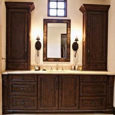 Mediterranean Bathroom by Goodall Custom Cabinetry