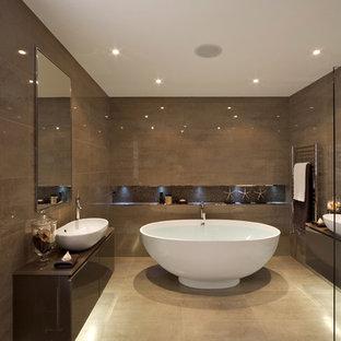 Brown Bathroom Houzz