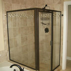 Walk In Shower Without Glass Doors or Curtains - Bathroom - Tampa - by Interiors Unleashed