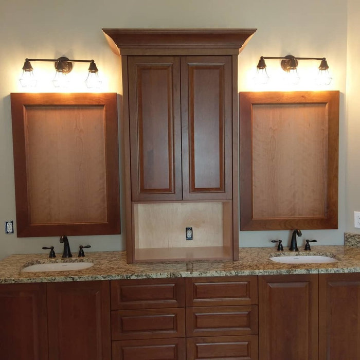 Vanity with Custom Mirror Frames