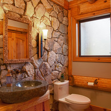 Eclectic Bathroom by Traditional Log Homes Ltd