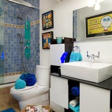 Contemporary Bathroom by Shelly Preziosi Designs Inc