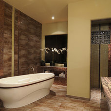 Contemporary Bathroom by Janet Friedman, ASID, CID