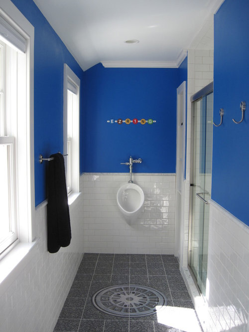 Alcove Shower   Contemporary White Tile And Subway Tile Alcove Shower Idea  In New York With