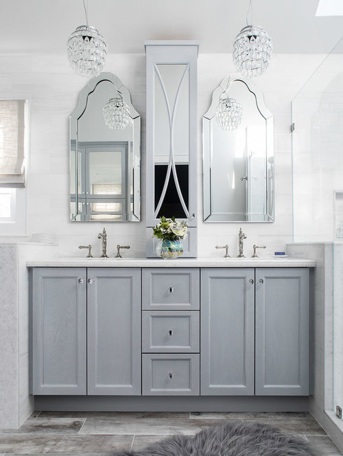 This Is An Example Of A Medium Sized Clic Ensuite Bathroom In New York With