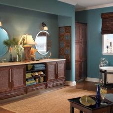 Tropical Bathroom by Kitchens of Los Gatos