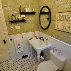 Farmhouse Bathroom by KJL Contracting Inc.
