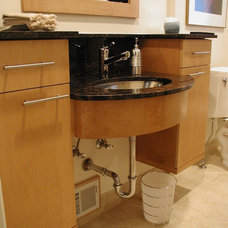 Contemporary Bathroom by Woodmaster Kitchens