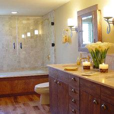 Farmhouse Bathroom by Lori Dennis, ASID, LEED AP