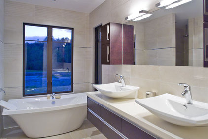 Contemporary Bathroom by Mal Corboy Design and Cabinets