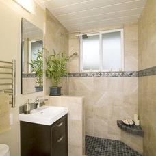 Contemporary Bathroom by Mercado Tile & Stone, Inc.